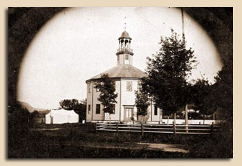 Tin-Type Photo of the Old Round Church in Richmond, Vermont